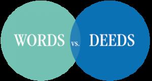 words deeds