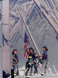 Firemen-Raise-Flag